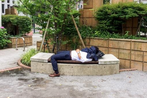 寝ている画像